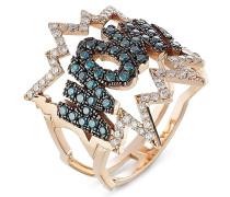 Ring WOW! aus 18kt Rotgold mit Diamanten