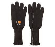 Bestickte Handschuhe aus Wolle