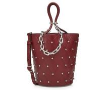 Bucket Bag aus Leder mit Metallkette