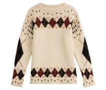 Gemusterter Pullover aus Wolle und Alpaka