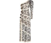 One-Shoulder-Abendkleid mit Spitze und Schleifen