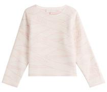 Strukturierter Pullover mit Wolle