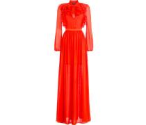 Bodenlanges Kleid aus Seiden-Georgette