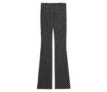 Flared-Pants mit Polka-Dot-Print