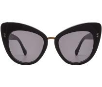 Cat Eye Sonnenbrille mit Metallsteg