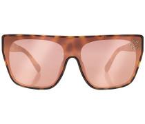 Eckige Sonnenbrille mit Décor