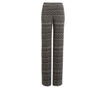 Wide-Leg-Pants mit Wolle und Seide