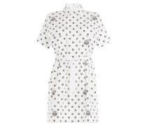 Shirt-Dress aus Baumwolle mit Print