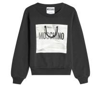 Bedrucktes Sweatshirt aus Baumwolle mit Schnurdetail