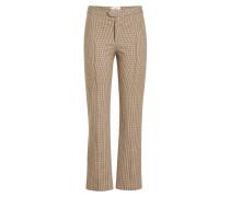Karierte Cropped Pants aus Baumwolle
