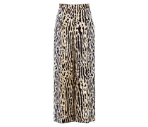 Wide-Leg-Pants mit Animalprint