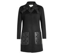 Mantel aus Wolle mit Schleifen