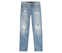 Straight-Leg-Jeans aus Baumwolle mit Distressed-Effekten