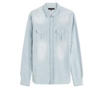 Baumwoll-Hemd im Denim-Look