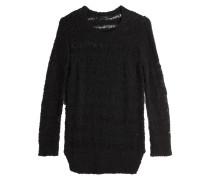 Grobstrick-Pullover aus Baumwolle und Leinen