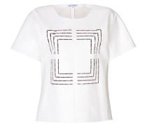 T-Shirt aus Leder mit Cut-Outs