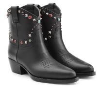 Cowboy-Boots Rockstud Rolling aus Leder