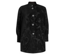 Gemusterter Mantel aus Wolle und Seide