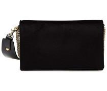 Handtasche aus Samt mit Leder