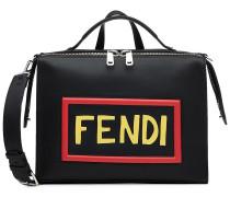 Tasche aus Leder mit Logo-Applikation