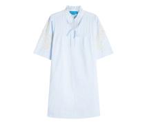 Blusenkleid aus Baumwolle mit Häkelspitze