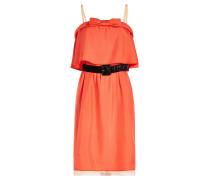 Seidenkleid im Layer Look mit Schleife und Gürtel