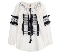 Bestickte Tunika-Bluse