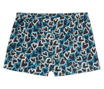 Seiden-Shorts mit Herzchen-Print