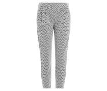 Gemusterte Cropped-Pants