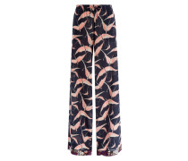 Wide-Leg-Pants aus Seide mit Print