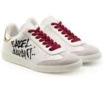 Sneakers aus Leder mit Print