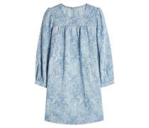 Bedrucktes Kleid aus Denim