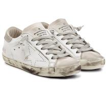 Sneakers Super Star aus Leder und Veloursleder