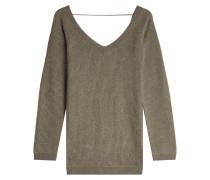 V-Pullover mit Kaschmir und Seide