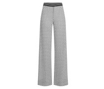 Gemusterte Wide Leg Pants mit Baumwolle