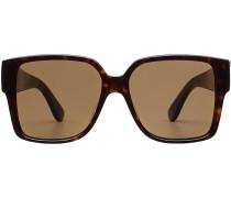 Oversized Sonnenbrille mit Schildpatt-Muster