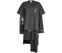 Bedrucktes Sweater Dress aus Baumwolle im Layer Look