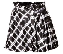 Karierter Flared-Skirt aus Twill