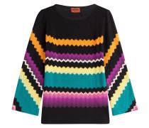 Pullover mit Wolle und Zickzack-Muster