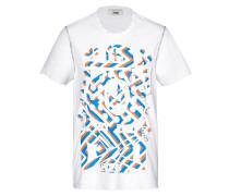 Print-Shirt aus Baumwolle und Seide