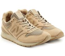 Sneakers aus Veloursleder und Mesh