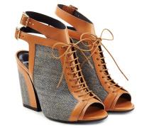 Geschnürte Block-Heel-Sandalen Faye mit Schnallen