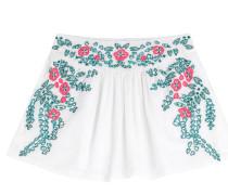 Bestickte Shorts mit Baumwolle