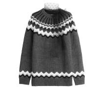 Norweger-Pullover mit Wolle und Alpaka
