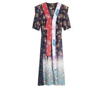 Print-Kleid mit Baumwolle