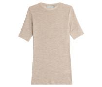 Kurzarm-Pullover aus Wolle