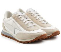 Sneakers aus Veloursleder, Glattleder und Textil