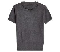 Verzierter Pullover aus Merinowolle und Kaschmir