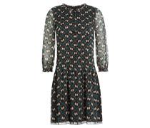 Kleid mit Seide und Print