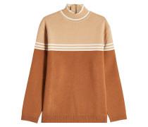 Pullover aus Wolle mit Stehkragen und Zipper